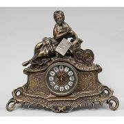 Часы «дама с книгой» цвет - каштан 33х37см