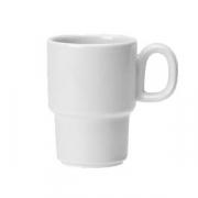 Чашка кофейная «Лиф»; фарфор; 85мл; белый