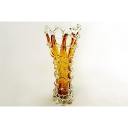 Ваза для цветов янтарная 38 см