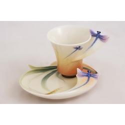 Чашка с блюдцем «Стрекоза» 100 мл