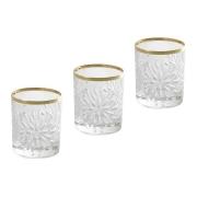 Набор: 6 хрустальных стопок для водки Умбрия - золото