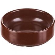 Салатник «Шоколад» D=10, H=3.5см; тем. корич.