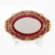 Блюдо овальное 24 см «Ювел красный»