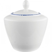 Сахарница с крышкой «Блю дэппл» D=8.7/4.5, H=9.5см; белый, синий