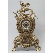 Часы «Всадник и птицы» золотистый 46х26 см.