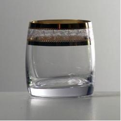 Набор стаканов 1/6 «Идеал» 290 мл; виски; панто золото