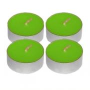 Свечи «Таблетки» [100шт], воск,алюмин., D=4,H=4см, зелен.