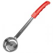 Половник красная ручка «Проотель», сталь,пластик, 60мл, H=7,L=37см, металлич.,красный