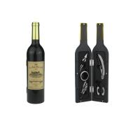 Винный набор 5 пр. Бутылка глянцевая с золотой пробкой