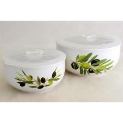 Набор из 2-х салатников с крышками «Оливки» 16 и 13 см