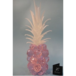 Ананас розовый, матовый лист d 40 11х37 см