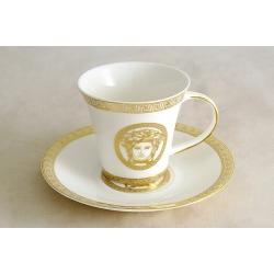Чашка с блюдцем 0,2 л «Versace - gold»