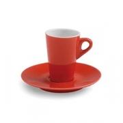 Пара кофейная; фарфор; 75мл; красный