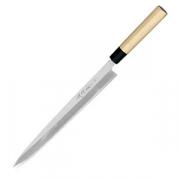 Нож янагиба для сашими; сталь,дерево; H=23,L=553/300,B=32мм; металлич.,древесн.