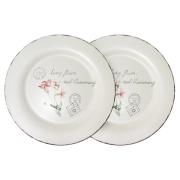 Набор из 2-х обеденных тарелок Воспоминания