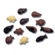 Форма для шоколада «Черепахи, креветки и рыбы» [35шт] L=27.5, B=17.5см