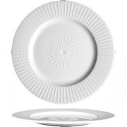Тарелка мелкая «Уиллоу» D=18.5см; белый