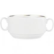 Бульон. чашка D=11.7, H=6.4см; белый, золотой
