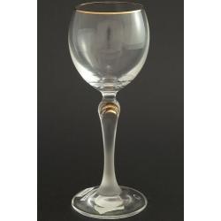 Рюмка для вина 150 мл «Люция» декор матовая ножка с декорацией золотом в верхней ее части +золотая кайма