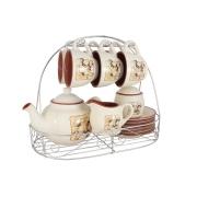 Чайный набор из 15 предметов на 6 персон на металлической подставке Шеф-повар
