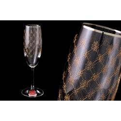 Набор бокалов для шампанского «Золотая сетка» (6 шт - 175 мл)