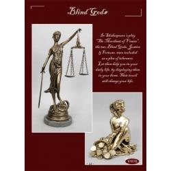 Фигура «Правосудие» каштан 40х15 см.