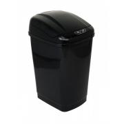 Ведро сенсорное для мусора 23 л черное h-51 см