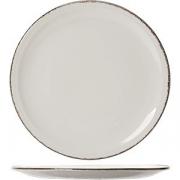 Тарелка для пиццы «Браун дэппл» D=31см; белый, коричнев.