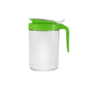 Кувшин овальный, стекло, зеленый