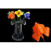 Цветок 50 см стеклянный «тюльпан оранжевый»