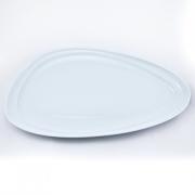 Тарелка 26*30,5см. Муд «Белое»