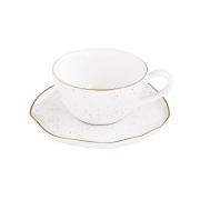 Чашка для кофе с блюдцем Artesanal (белая) без инд.упаковки
