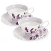 Набор чайный, 6 перс, 12 пр, Лаванда