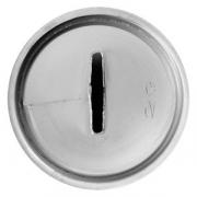 Насадка кондит. «Широкая лента», сталь нерж., D=22,H=32мм, металлич.