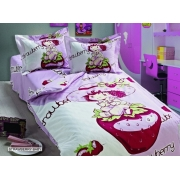 Комплект пос. белье ARYA детское сатин с одеялом и юб. STRAWBERRY BABY
