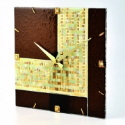 Часы 12х12 см настольные Золото Греции