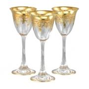 Рюмка для ликера/водки 6 шт Флора - золото