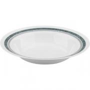 Блюдо круглое глубокое «Риалто» D=290, H=44мм; белый, зелен.