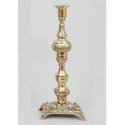 Пара канделябров на 1 свечу золотистый 34х13 см.