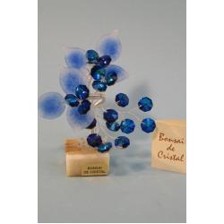 Бонсай с листочками синий, 12см.