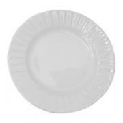 Тарелка мелкая «Нестор», фарфор, D=17см, белый