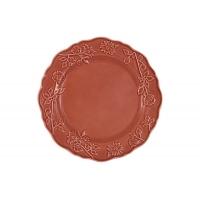 Тарелка обеденная Villa (красная) без инд.упаковки