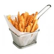 Корзина для картофеля фри с ручкой; сталь нерж.; H=95,L=102,B=83мм