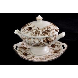Суповая чашка с крышкой на блюдце «Морроне»