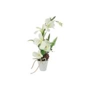 Декор.цветы Вьюнок белый в керам.вазе