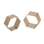 Форма конд. «Шестиугольник», сталь нерж., H=4,L=7,B=7см