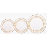 Набор тарелок «Желтые дольки» на 6 персон 18 предметов