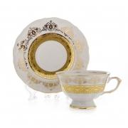 Набор для чая 200мл. «Лист белый Золото» на 6перс.12перс.