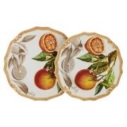 Набор тарелок: суповая + обеденная Апельсины