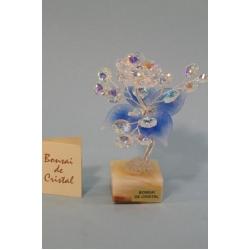 Бонсай с хризантемой синий, 15см.